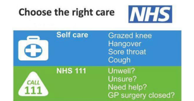 Should I call 999? NHS guidance for choosing the right care