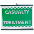 Roll Up Incident Sign - Casualty Treatment